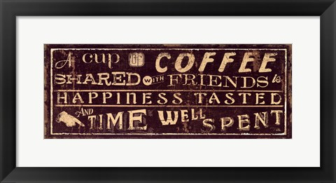 Framed Coffee Quote III Print