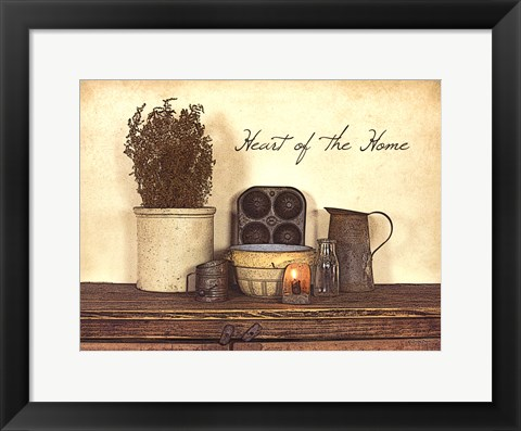 Framed Heart of the Home Print