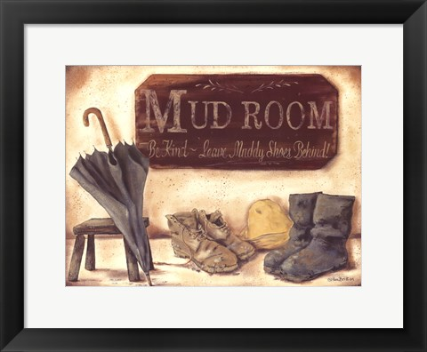 Framed Muddy Shoes Print