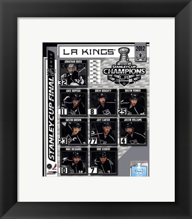 Framed Los Angeles Kings 2012 NHL Stanley Cup Champions Composite Print