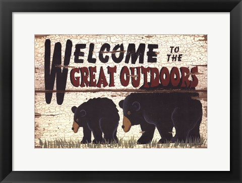 Framed Great Outdoors Print