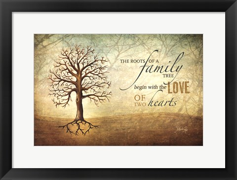 Framed Love Of Two Hearts Print