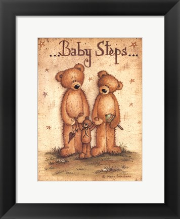 Framed Baby Steps Print