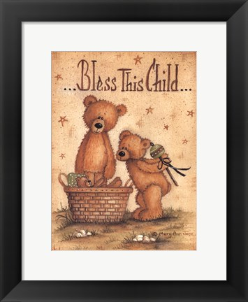 Framed Bless This Child Print