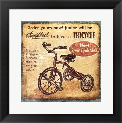 Framed Tricycle Print