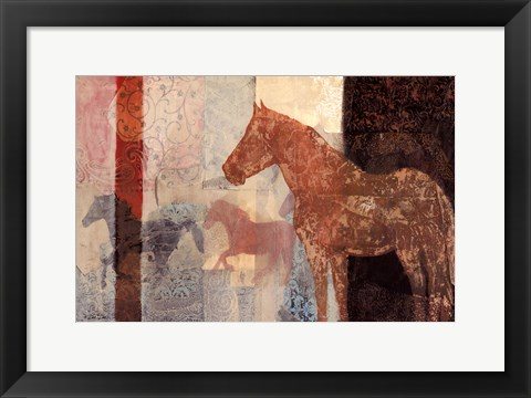 Framed Patterned Horse II Print