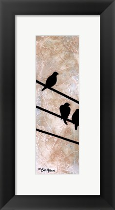 Framed Birds On A Wire I Print