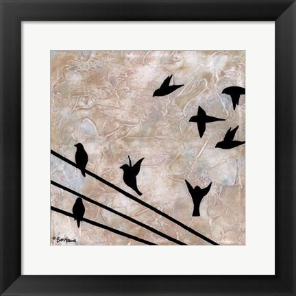 Framed Birds On A Wire II Print