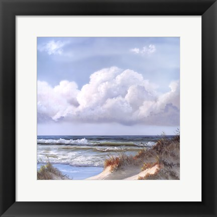 Framed Beautiful Day III Triptych Print