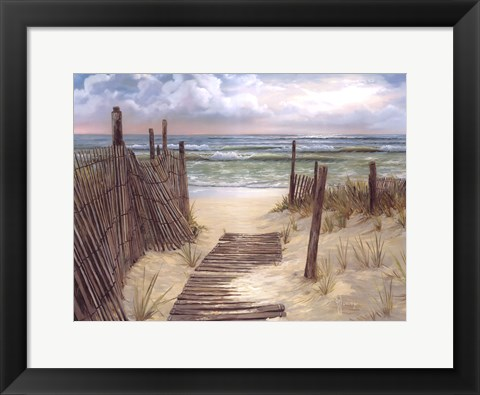 Framed Path To The Ocean Print