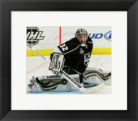 Framed Jonathan Quick Game 3 of the 2012 Stanley Cup Finals Action Print