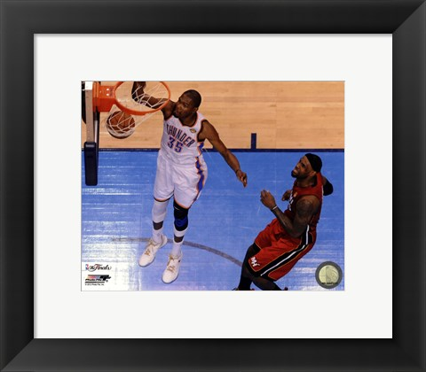 Framed Kevin Durant Game 1 of the 2012 NBA Finals Action Print