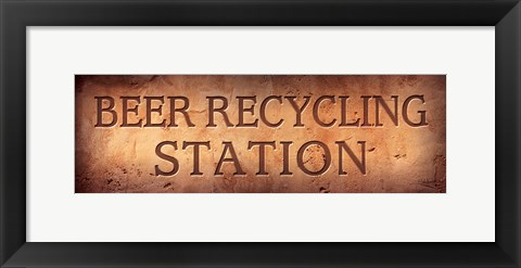 Framed Beer Recycling Station Print