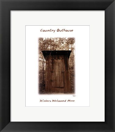 Framed Country Outhouse Print