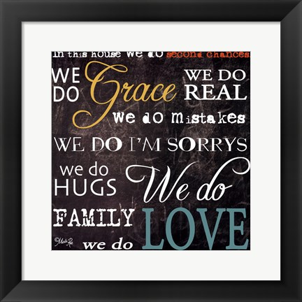 Framed Grace And Love Print