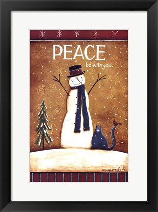 Framed Peace Be With You Print