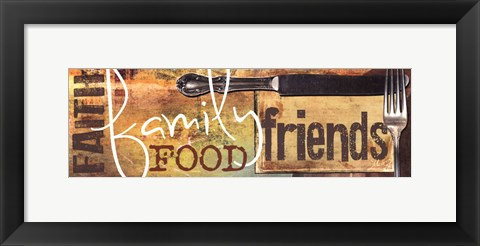 Framed Food and More Print