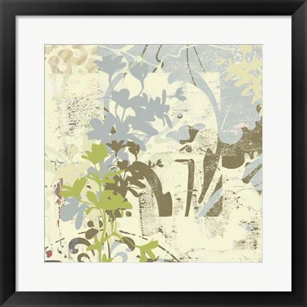 Framed Floral Swhirls III Print