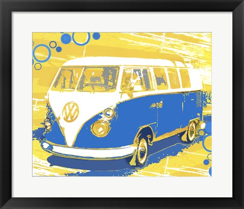 Framed Vintage VW Bus Print