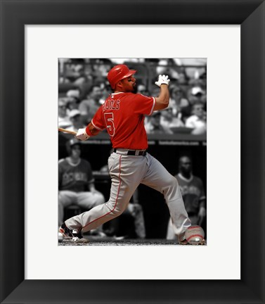 Framed Albert Pujols 2012 Spotlight Action Print