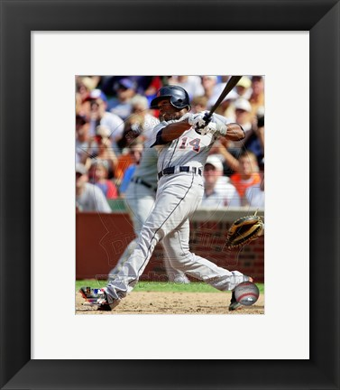 Framed Austin Jackson 2012 Action Print