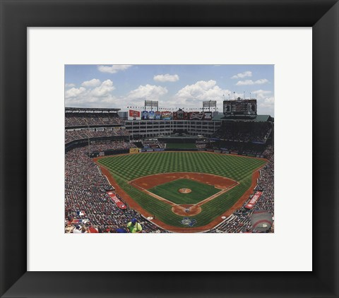 Framed Rangers Ballpark 2012 Print