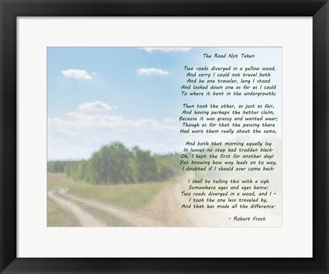 Framed Road Not Taken Landscape Print