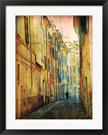 Framed Streets of Italy I Print