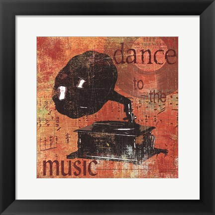 Framed Dance To The Music Print