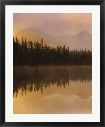 Framed Twilight Reflection I Print