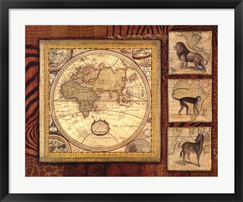 Framed Journey To Africa II Print