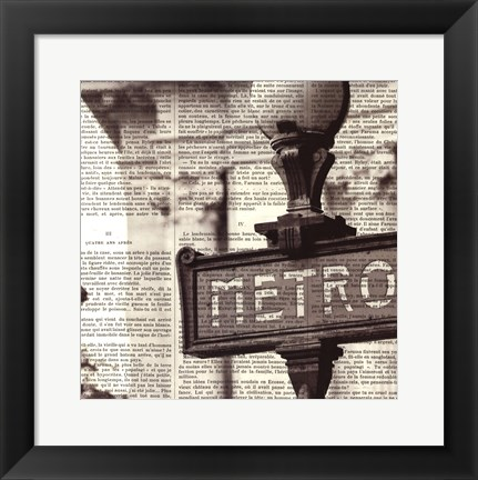 Framed Metro I Crop Print