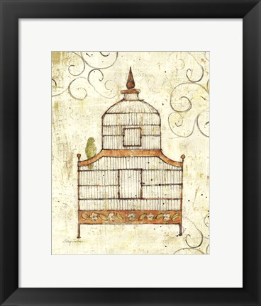 Framed Bird Cage III Print