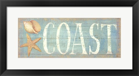 Framed Pastel Coast Print