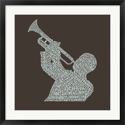 Framed Jazz Tunes Print