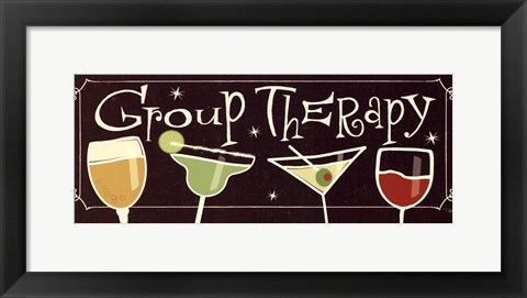 Framed Group Therapy II Print