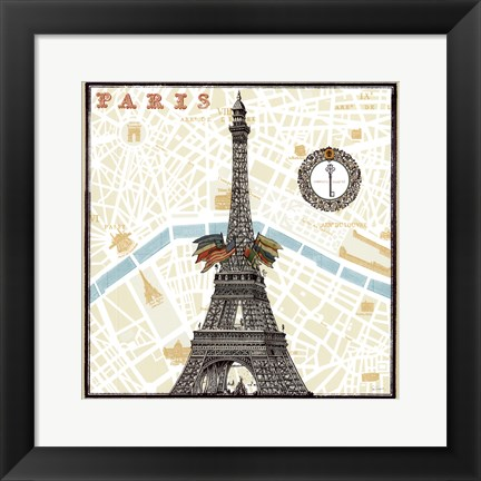 Framed Monuments des Paris Eiffel Print