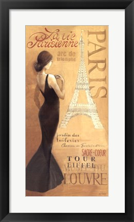 Framed Ladies of Paris I Print
