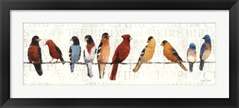 Framed Usual Suspects - Birds on a Wire Print