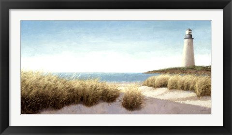 Framed Lighthouse by the Sea Print