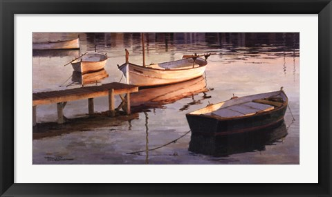 Framed Barques al Port Print