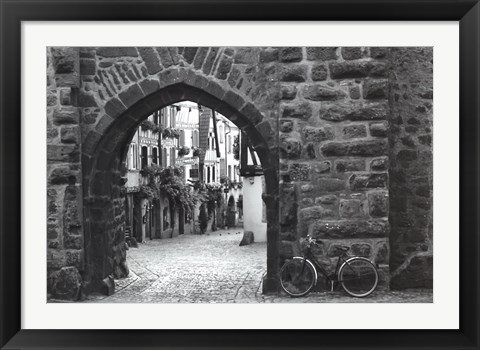 Framed Bicycle of Riquewihr Print