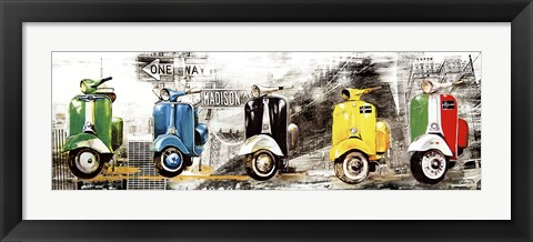 Framed Get Your Mopeds Running Print