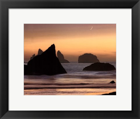 Framed Moonset Print