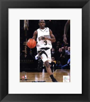 Framed Chris Paul Wake Forest University Demon Deacons 2004 Action Print