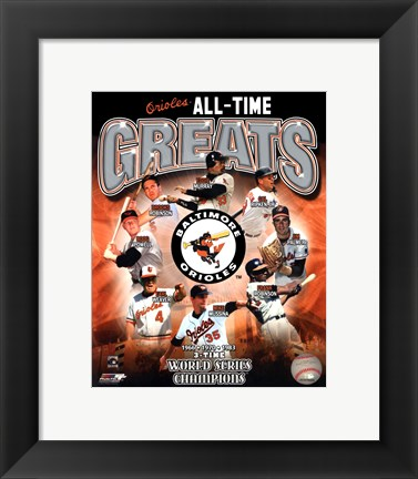 Framed Baltimore Orioles All-Time Greats Print
