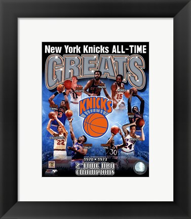 Framed New York Knicks - All-Time Greats Composite Print