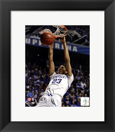 Framed Anthony Davis University of Kentucky Wildcats 2011 Action Print