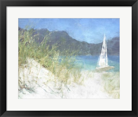 Framed Yacht Waiting Print