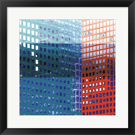 Framed Bright City II Print